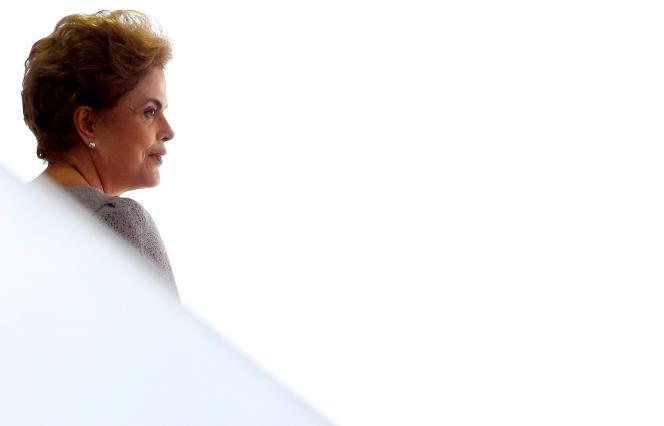 Dilma Rousseff à Brasilia, le 22 mars.