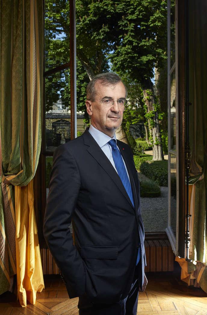 Francois Villeroy de Galhau, gouverneur de la Banque de France à la Maison de l'Amérique Latine, à Paris, mardi 17 mai.