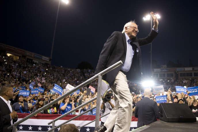 Le sénateur du Vermont et candidat à l'investiture démocrate en vue de la présidentielle de novembre, Bernie Sanders, le 17 mai à Carson en Californie.