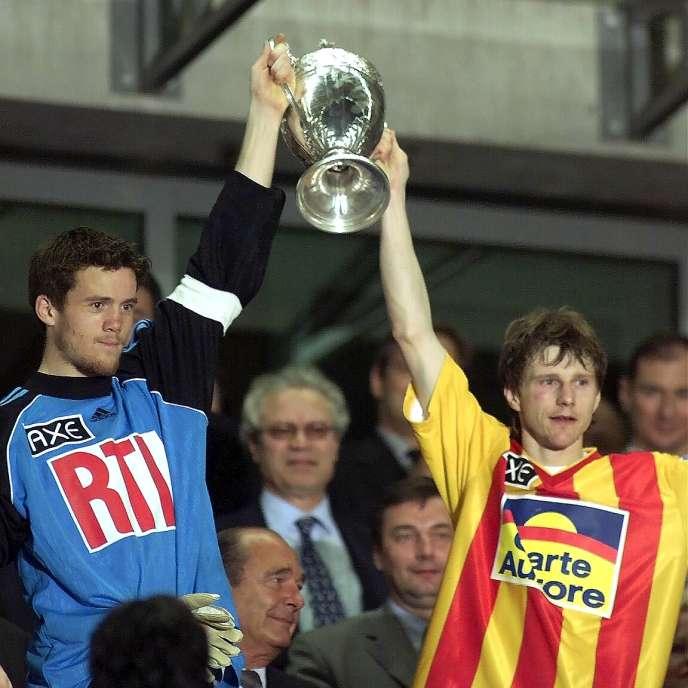 Mickaël Landreau et Réginald Becque, le 7 mai 2000.