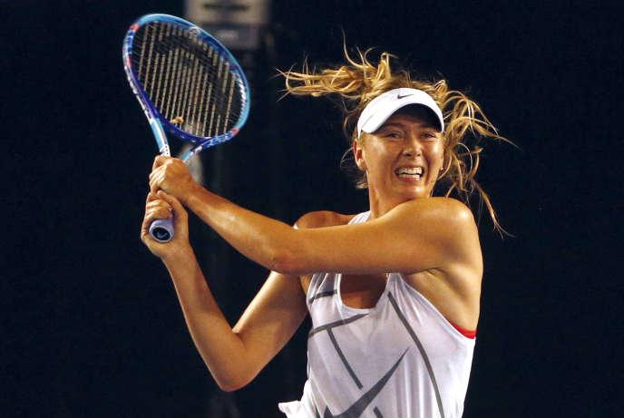 Maria Sharapova avant sa suspension, à Melbourne, le 14 janvier 2016.