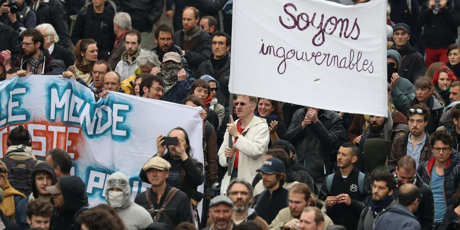 Manifestation contre la loi travail à Paris, le 19 mai.