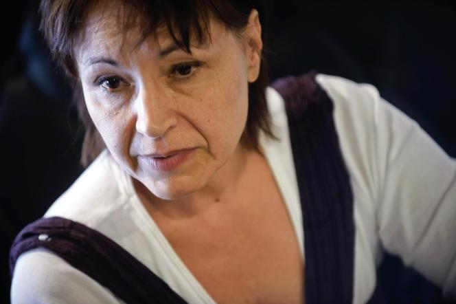 Christine Tasin, animatrice de l'association Riposte laïque, le 16 septembre 2010 à Dijon.