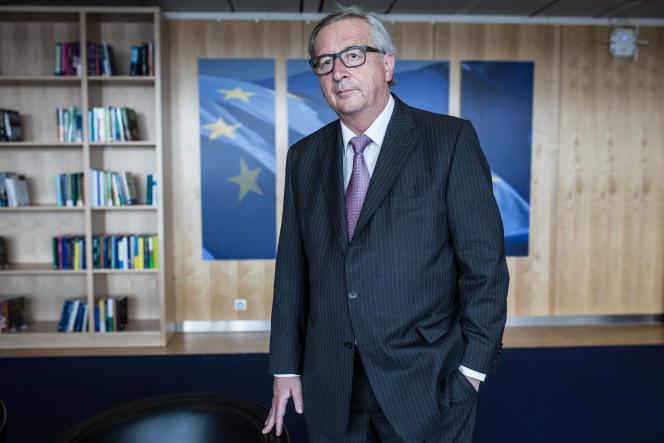 Le président de la Commission européenne, dans son bureau de Bruxelles le 19 mai 2016.
