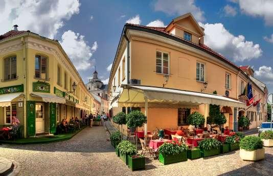 La rue Stikiliu, dans le quartier juif, à Vilnius.