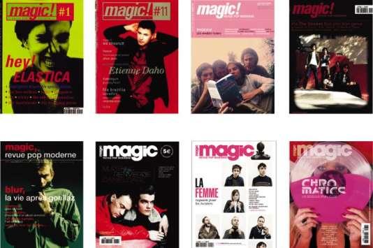Quelques couvertures emblématiques du mensuel «MagicRPM »