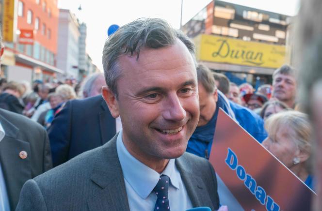 Norbert Hofer, candidat du parti d'extrême droite FPÖ.