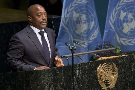 Le président congolais, Joseph Kabila, le 22 avril, à la tribune de l'ONU.