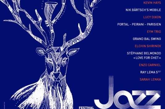Affiche de la 16e édition du festival Jazz à Saint-Germain-des-Prés.