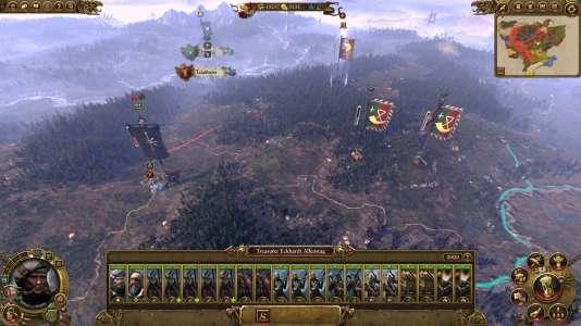 La carte stratégique de «Total War : Warhammer».