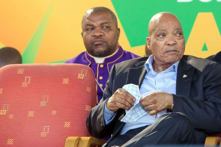 Le président sud-africain, Jacob Zuma, lors du Jour national de prière, le 22 mai 2016, au stade d'Absa, à Durban.