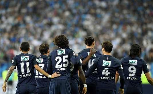 Les joueurs du PSG lors de la finale de la Coupe de France, à Saint-Denis le 21 mai.