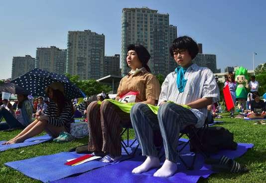 Des participants à la Space Out Competition, le 22 mai à Seoul.
