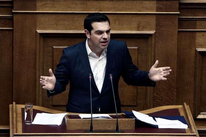 Le premier ministre grec Alexis Tsipras au Parlement, le 22 mai.