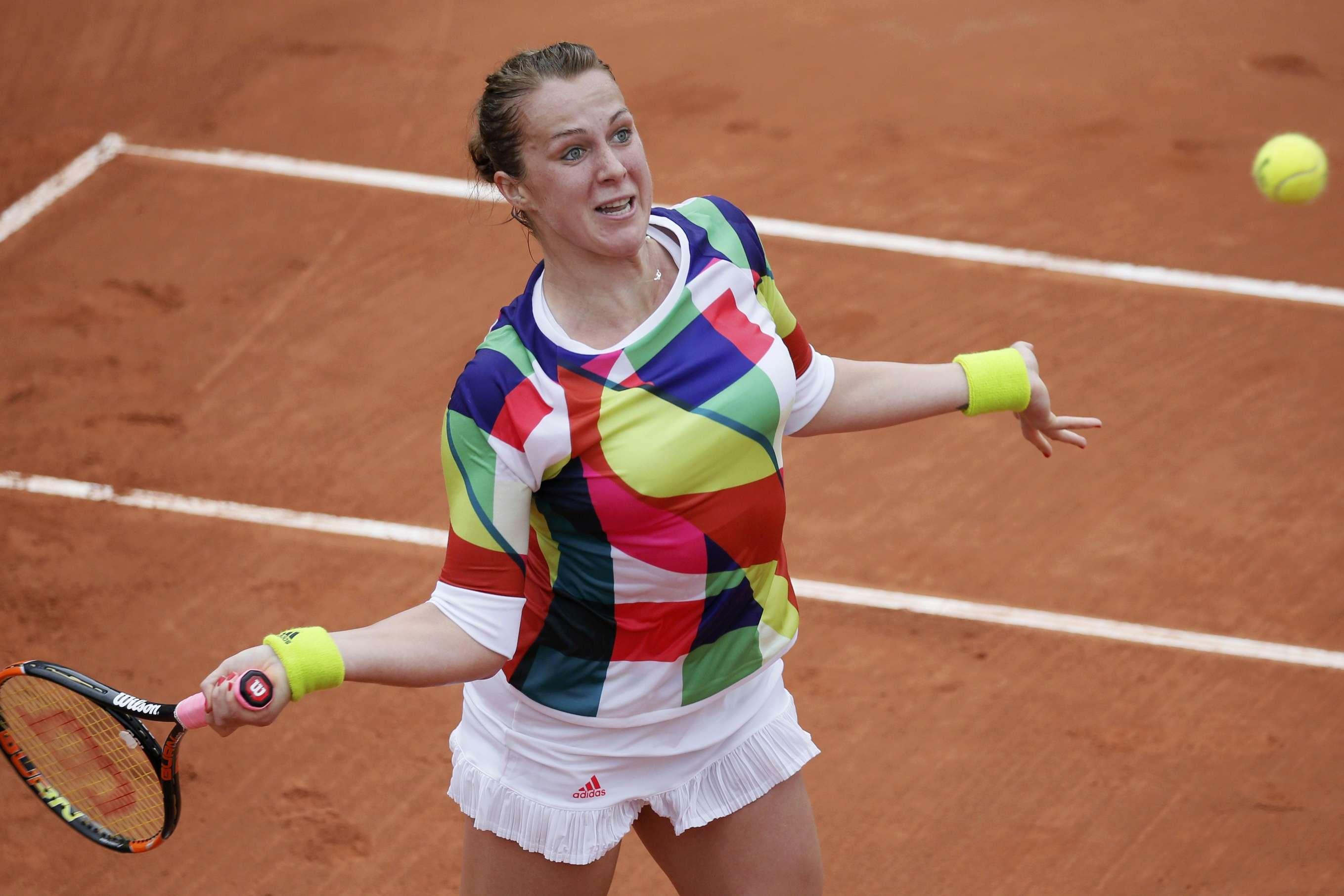 Peut-être est-ce une tenue porte-bonheur? En tout cas, elle n'a pas empêchée sa propriétaire, la RusseAnastasia Pavlyuchenkova, 24e mondiale, de pulvériser l'EspagnoleSara Sorribes (6-2, 6-0).