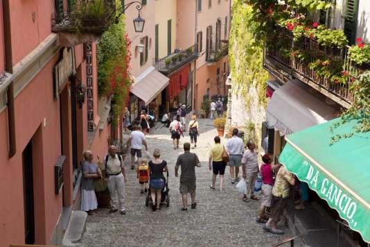 Les ruelles escarpées de Bellagio.