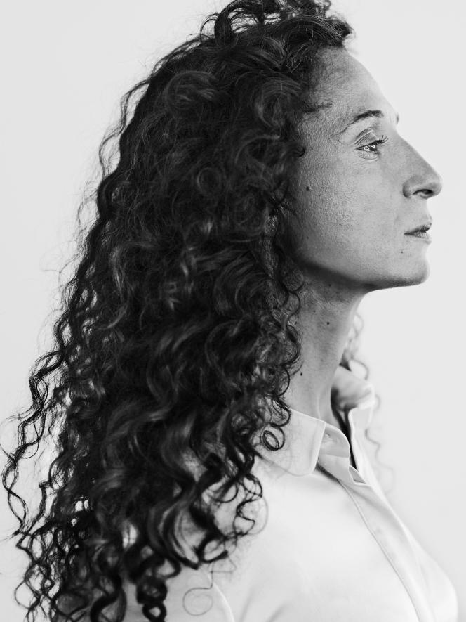 La réalisatrice Houda Benyamina à Cannes, le 22 mai 2016.