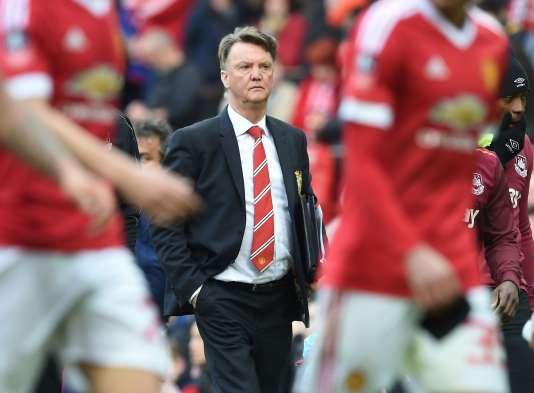 Louis van Gaal à Manchester United, le 13 mars, deux mois avant son limogeage.