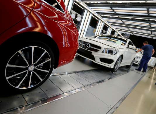 Une usine d'assemblage de Mercedes du groupe Daimler en Hongrie.