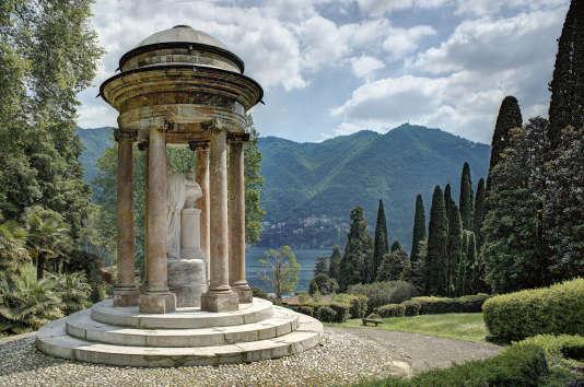 Vue du jardin de la Villa d'Este.
