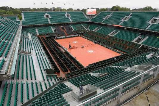 Le court central de Roland-Garros, le 23 mai.