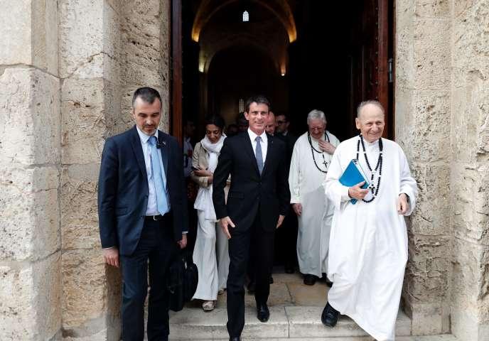 Manuel Valls dans la vieille ville de Jérusalem, le 23 mai.