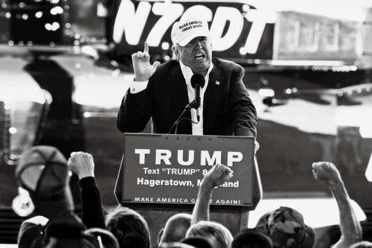 Donald Trump en campagne dans le Maryland, le 25 avril 2016.