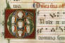 Extrait d'un antiphonaire, recueil médiéval de chants religieux.