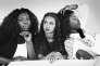 De gauche à droite, les actrices du film « Divines»:Deborah Lukumuena, Oulaya Amamra et Jisca Kalvanda.