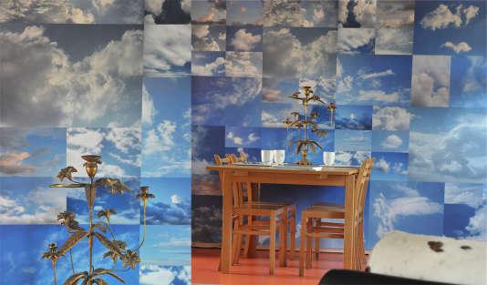 Papier peint nuages.