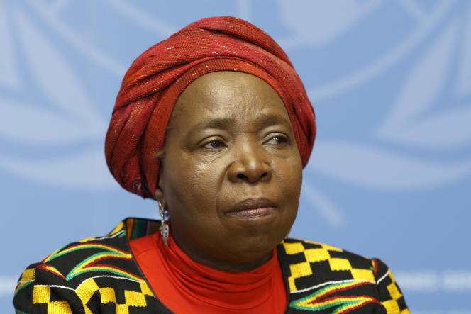 Nkosazana Dlamini-Zuma lors d'une conférence à Genève, en mai 2016