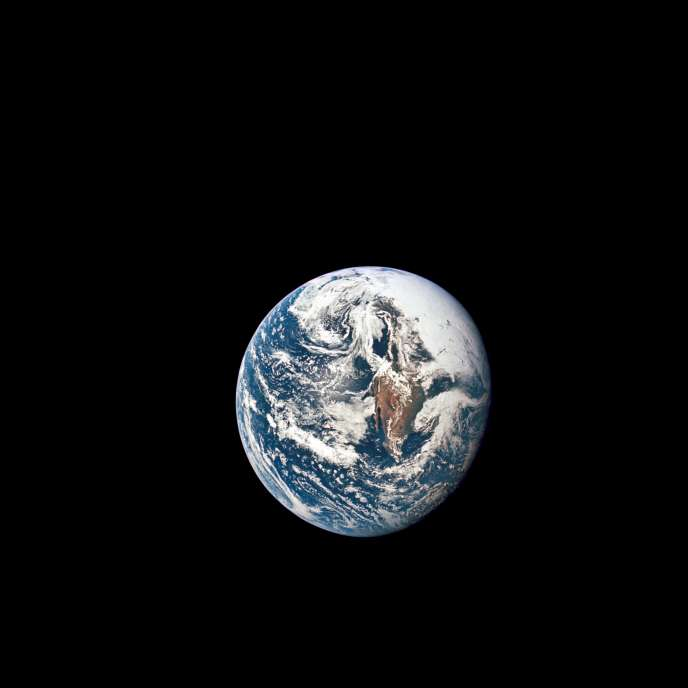 Photo de la Terre prise lors de la mission Apollo-10 en 1969.