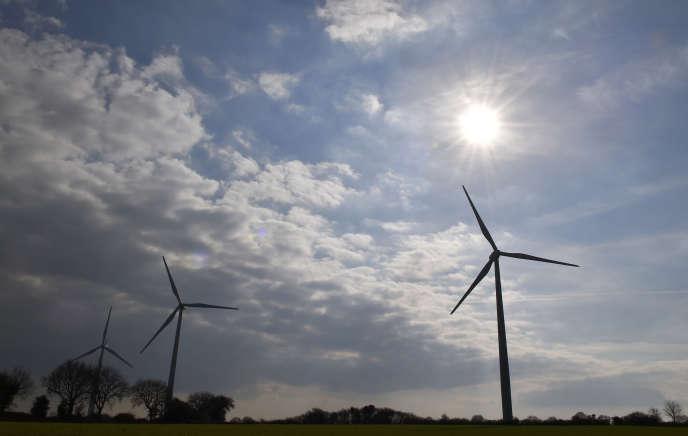 Une éolienne près de Muzillac (Morbihan).