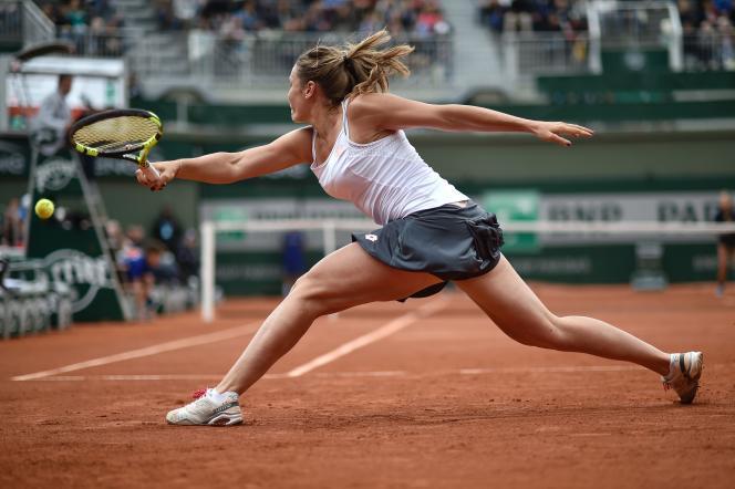 La joueuse italienne Karin Knapp, le 24 mai 2016, à Roland-Garros