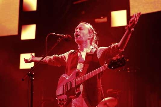 Thom Yorke, le chanteur de Radiohead, en concert au Zénith de Paris le 24 mai.