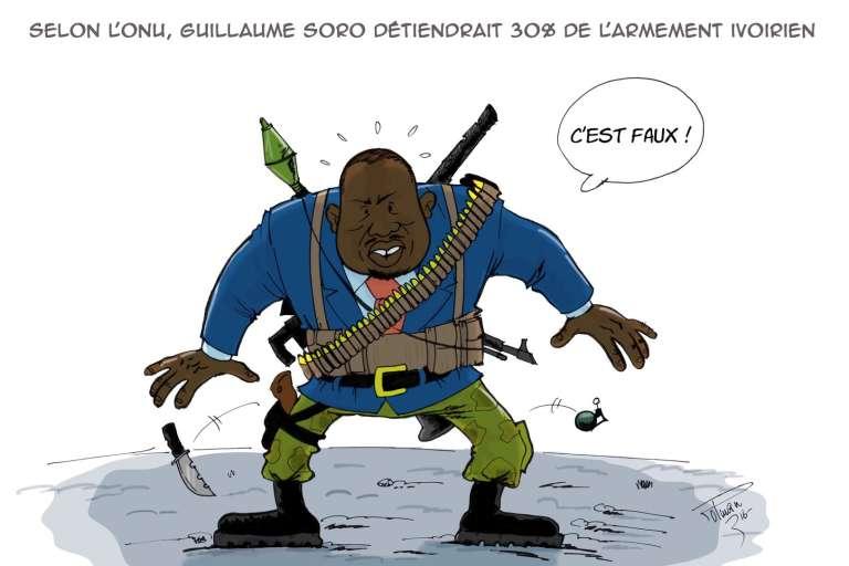 Le président de l'assemblée nationale, Guillaume Soro, croqué parle dessinateur de presse ivoirien, Polman.