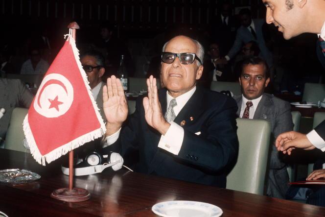 Habib Bourguiba, lors du sommet des non-alignés à Alger, en 1973.