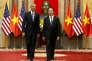Le président américain, Barack Obama, et son homologue vietnamien, Tran Dai Quang, le23mai, à Hanoï.