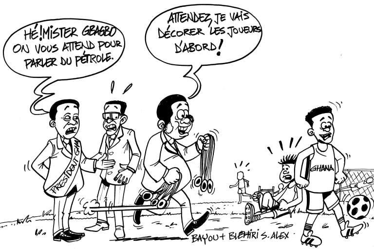 Un dessin paru dans le journal hebdomadaire ivoirien «Gbich».
