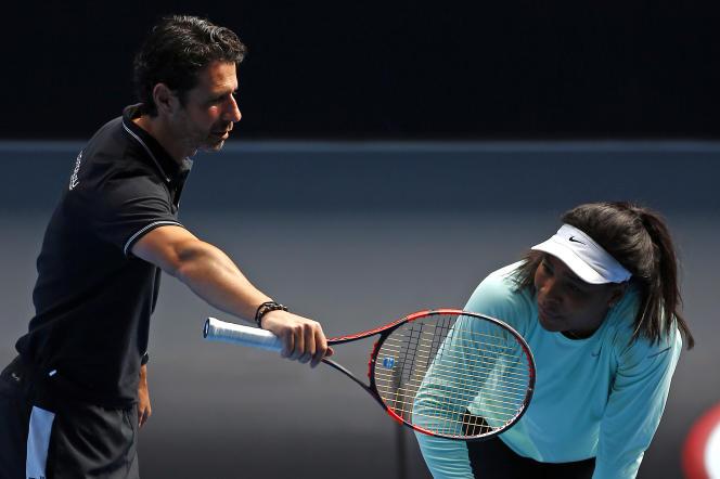 Patrick Mouratoglou et Serena Williams, à Melbourne, en janvier 2015.