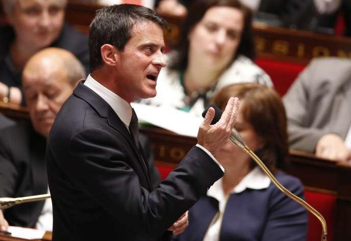 Manuel Valls à l'Assemblée nationale le 25 mai.