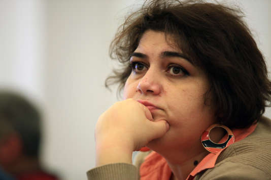 Khadija Ismaïlova, à Bakou, capitale de l'Azerbaïdjan, le 2 mars 2014.