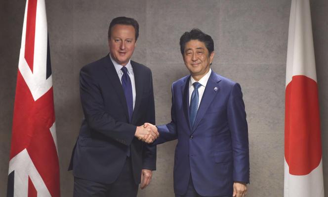 David Cameron et Shinzo Abe lors du G7