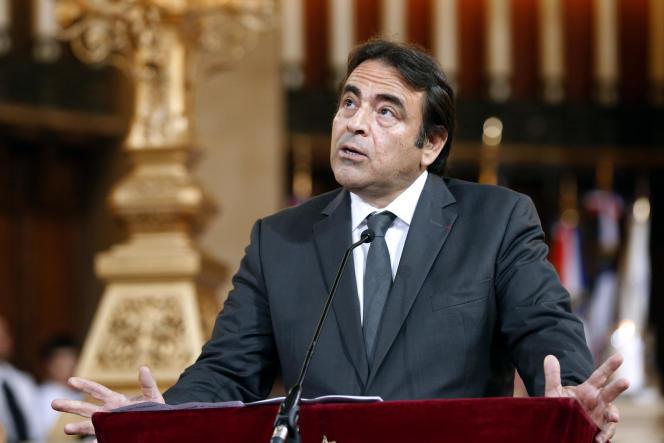 Joël Mergui, président sortant du Consistoire central, à la synagogue de la Victoire à Paris, en septembre 2012.