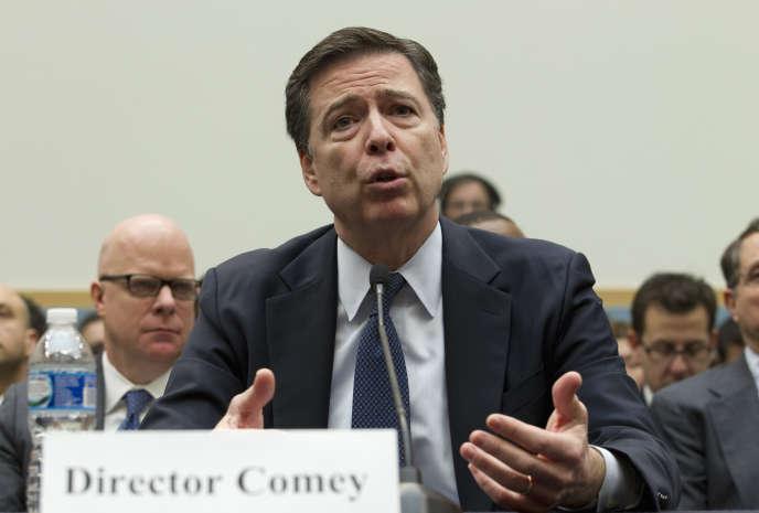 James Comey, le directeur du FBI, lors d'une audition parlementaire le 25 mai.