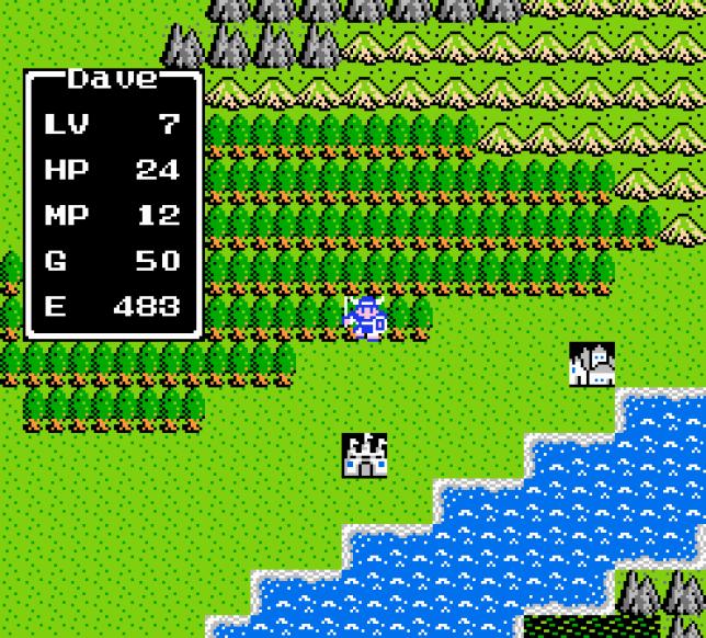 «Dragon Quest», en1986 (version américaine).
