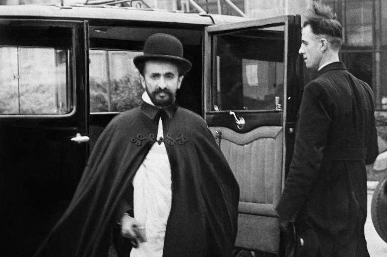 L'empereur éthiopien Haïlé Sélassié, à Londres en 1936.