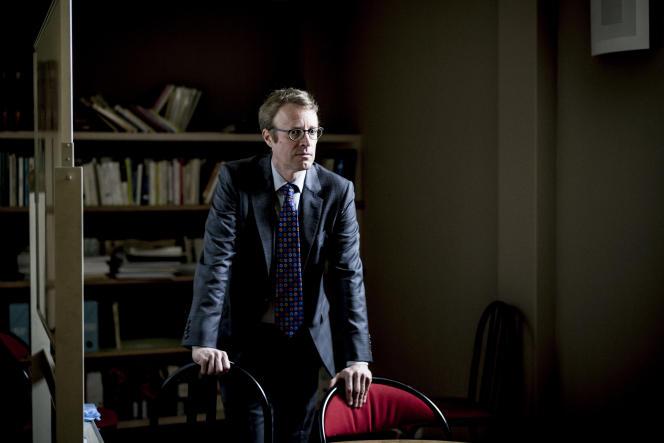 Alain Brunet, psychologue, le 24 mai, à l'hôpital de la Pitié-Salpetrière, à Paris.