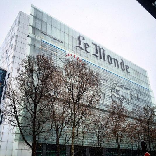 Le siège du «Monde», au 80, boulevard Auguste-Blanqui, dans le 13e arrondissement de Paris.