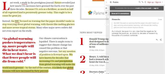 Une tribune du climato-sceptique Bjorn Lomborg, publiée le 5 mai par The Telegraph.